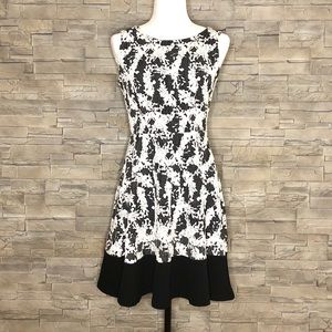 Le Lis black and white dress